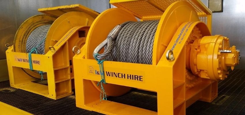 Hydraulic Winches For Hire - I and M Solutions