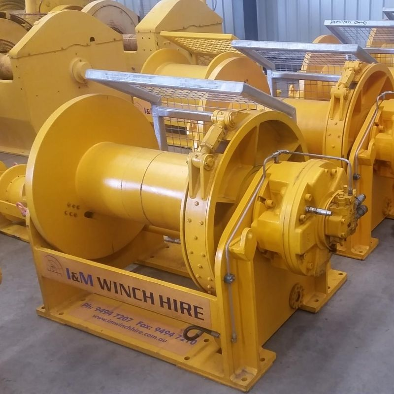10 Tonne Mooring Winch For Hire - I and M Solutions