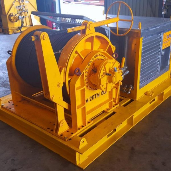 20 Tonne Cable Hauling Winch For Hire - I and M Solutions