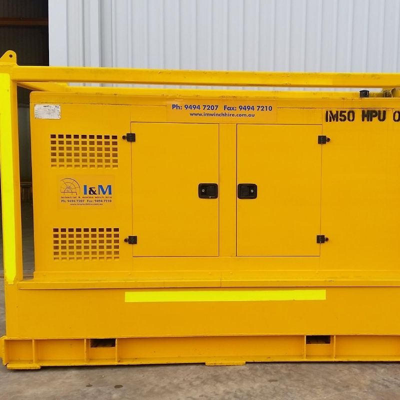 50kW Diesel Driven Hydraulic Power Unit For Hire - I and M Solutions (1)
