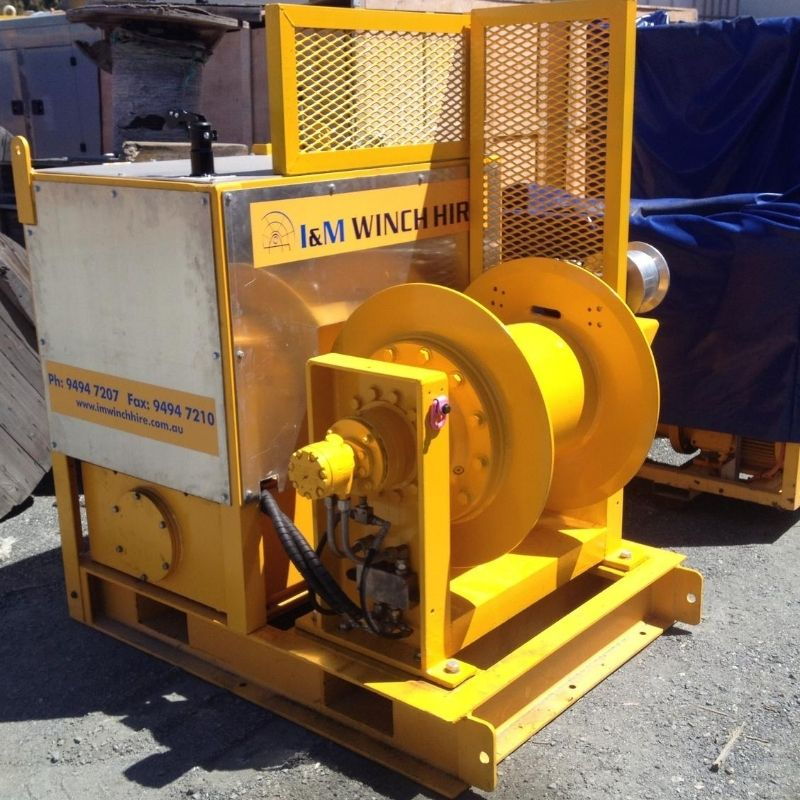 6 Tonne Cable Hauling Winch For Hire - I and M Solutions