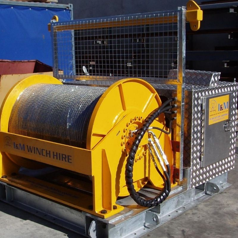 7 Tonne Cable Hauling Winch For Hire - I and M Solutions